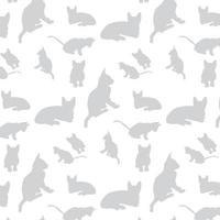 Gray cat silhouette pattern