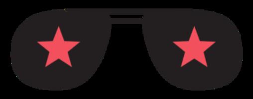 óculos de ícone da música rock