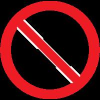 verboden teken geen vis