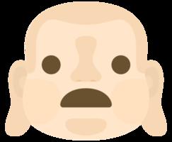 emoji bouddha face halètement