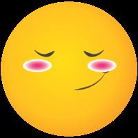 Emoji gelbes Gesicht erröten