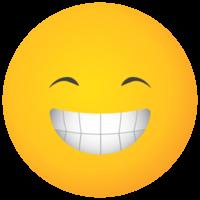 emoji face grande sorriso