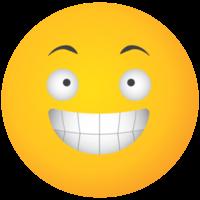 Emoji gelbes Gesicht lachen