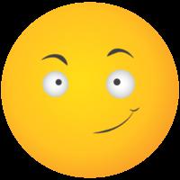 Emoji gelbes Gesicht Lächeln gewinnen