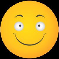 Emoji gelbes Gesicht Lächeln