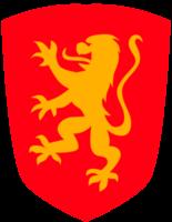 Crest shield lion rampant