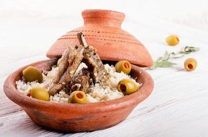 Moroccan tagine with lamb ribs