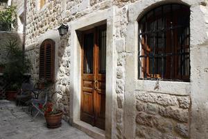 straat in het kleine stadje Dubrovnik, Kroatië