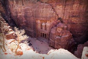 The Treasury. Ancient city of Petra, Jordan