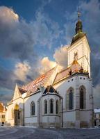 S t. la iglesia de mark en zagreb, croacia.