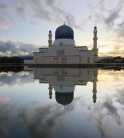 Kota Kinabalu floating mosque at Sabah, Borneo, Malaysia