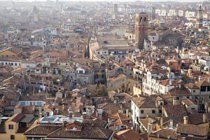 Aerial view of UNESCO World Heritage Site Venice cityscape