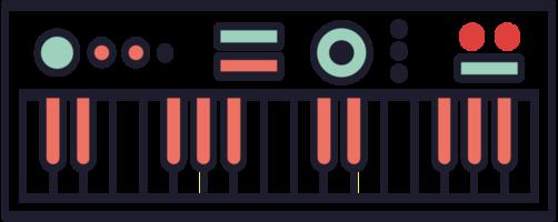 Musiktastatur Midi