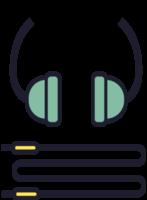 fone de ouvido de música