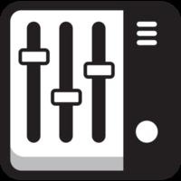 ícone quadrado redondo de música