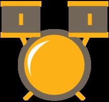 schattige muziek icoon drum