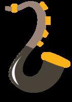 süße Musikikone Saxophon
