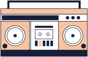 muziekapparatuur radio cassette