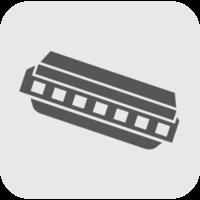 gaita de ícone de instrumento de música