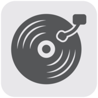 muziekinstrument pictogram vinyl record