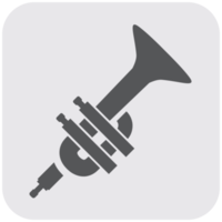 muziekinstrument pictogram trompet