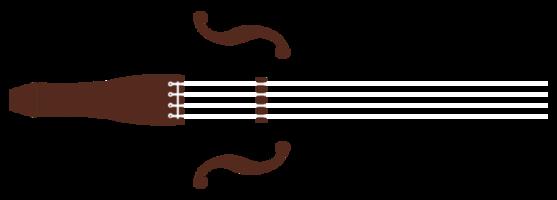 Musikinstrument einfache Geige png