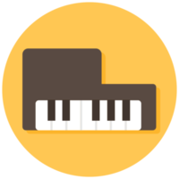icono de instrumento musical piano