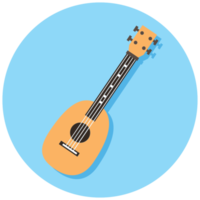 Music instrument icon guitar