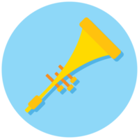 Music instrument icon trumphet