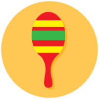 Music instrument icon maraca