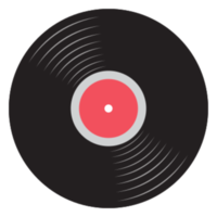 rockmuziek pictogram vinyl record