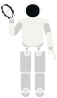 Robot playing music tambourine png