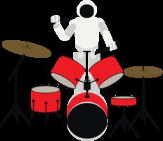 robô tocando tambor de música