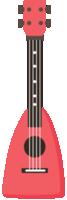 ukulele colorido