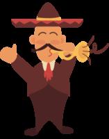 mariachi-speler trumphet