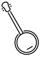 lineaire muziekinstrument banjo