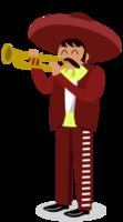 mariachi muzikant trompet spelen