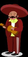 Mariachi muzikant mini gitaar spelen
