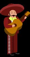 Mariachi muzikant gitaar spelen