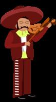 Mariachi muzikant viool spelen