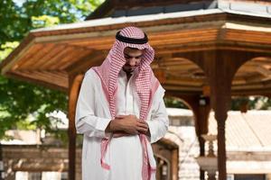 humilde oración musulmana