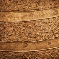 Ancient Chinese bronze textured background photo
