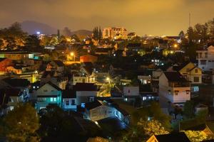 Dalat city at night photo
