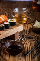 Oriental Japanese sushi photo