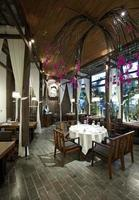 Southeast Asian style garden restaurant photo