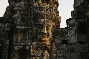 Bayon Temple of Angkor Thom in Cambodia photo
