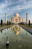 Taj mahal reflection photo
