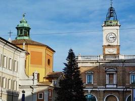 Italy, Ravenna, detail of Piazza del Popolo