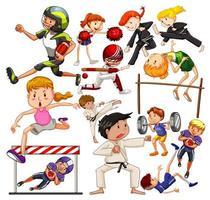Set of People doing activities  vector