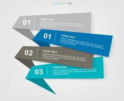 Banner paper tag background for business infographics vector